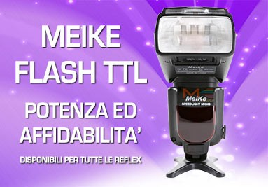 Flash Meike TTL per Canon Nikon Sony Alympus e Pentax