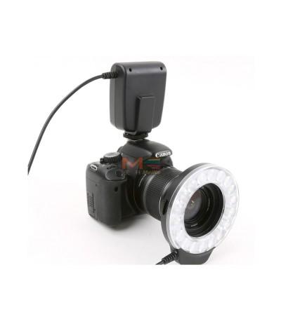 Flash Anulare Meike FC110 con LED ad alta potenza per CANON EOS, NIKON, PENTAX, OLYMPUS, PANASONIC E SAMSUNG NX